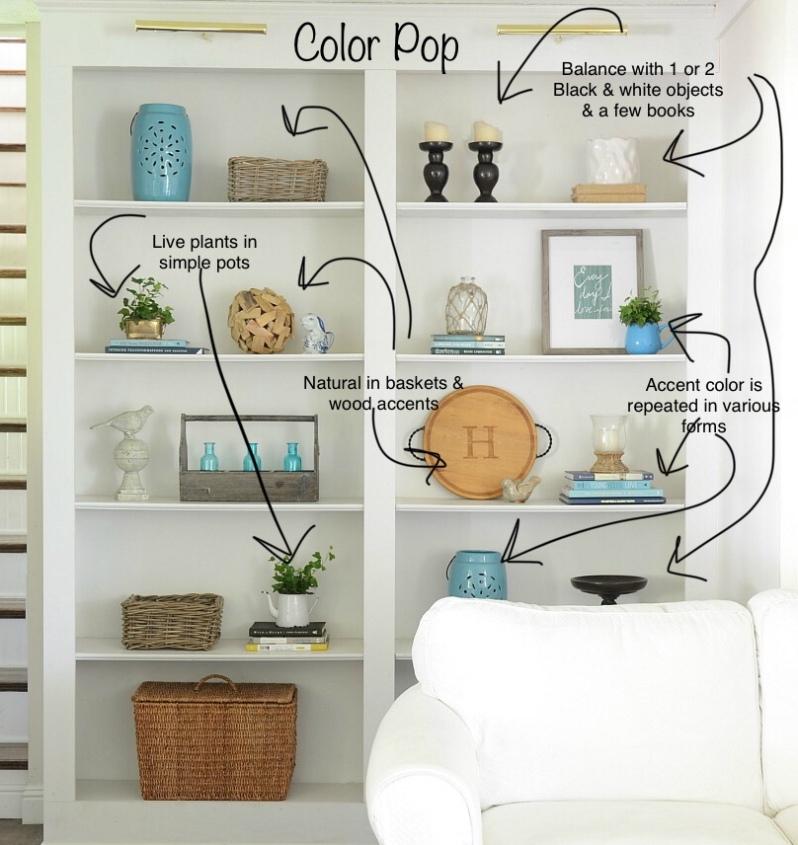 Color Pop | Styling Shelves
