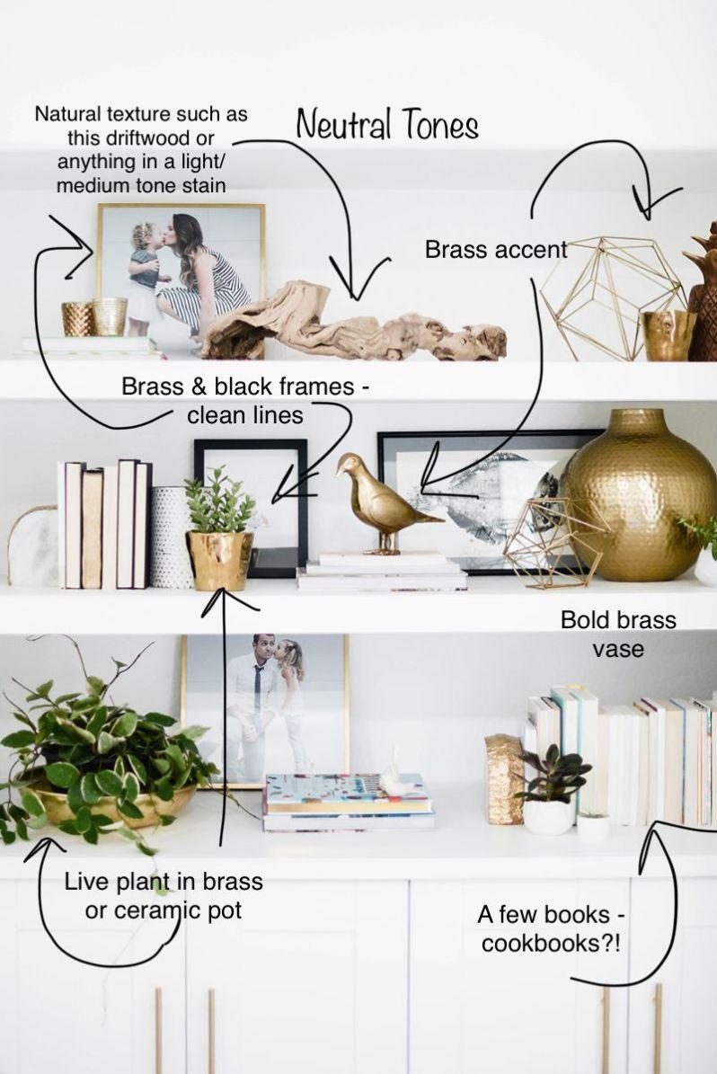 Neutral Tones | Styling Shelves