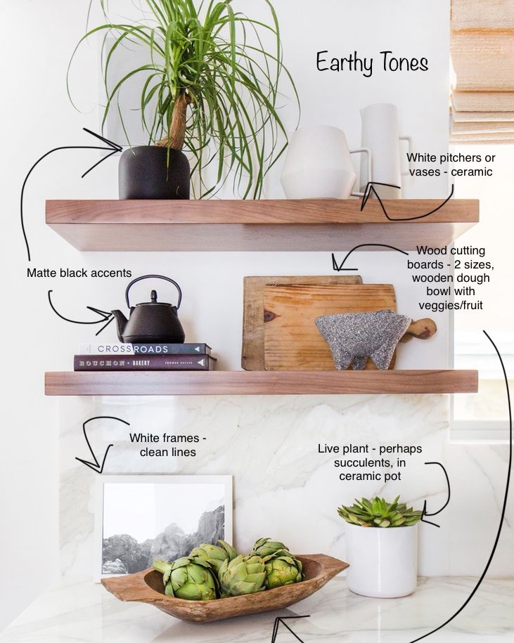 Earthy Tones | Styling Shelves