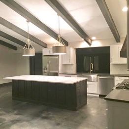 Entire home renovation including custom kitchen, architectural details | design